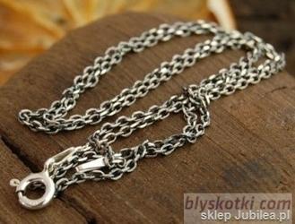 Antic - srebrny łańcuszek 80cm