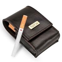 Skórzane damskie etui na papierosy felice fa14 standard ciemnobrązowe - brązowy