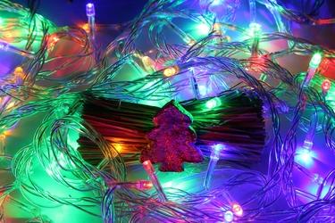 Lampki choinkowe świąteczne ledowe 100 led kolorowe, światełka na choinkę do domu ip20 z programatorem 8 funkcji