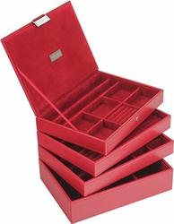 Pudełko na biżuterię 4 el. classic Stackers czerwone