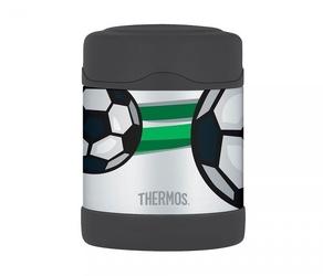 Termos dla dzieci na posiłek thermos funtainer 290 ml stalowyczarny motyw piłka