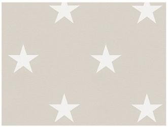 Tapeta beżowo szara białe gwiazdki 32521-4 top trend