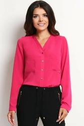 Różowa koszula z kieszonkami