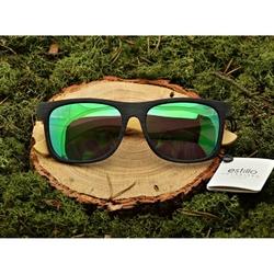 Drewniane okulary przeciwsłoneczne polaryzacyjne lustrzane est-406a
