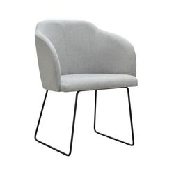 Nowoczesne krzesło tapicerowane irwin u na metalowych nogach