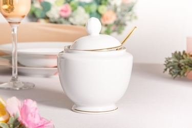 Cukiernica porcelana mariapaula złota linia 330 ml