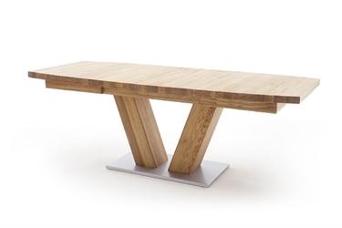 Drewniany dębowy rozkładany stół managua b  dąb dziki, 140-220 x 90 cm