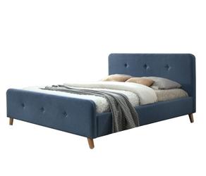 Łóżko Ewana 160x200 tapicerowane niebieskie