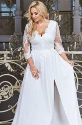 Ślubna sukienka plus size z koronką chantell 34