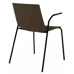 Krzesło skin 4 czekoladowe podstawa czarna - brązowy ciemny