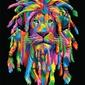 Lion rasta - plakat