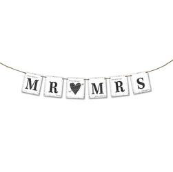 Baner ślubny MR MRS 77 cm