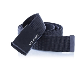 Pasek męski do spodni parciany brodrene p01 czarny - czarny