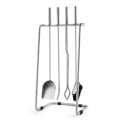 Zack - prano - zestaw 5 narzędzi kominkowych, matowy