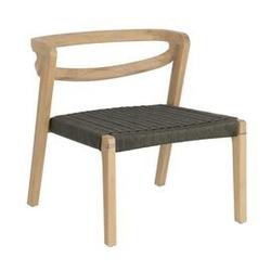 Fotel zilda drewniany zielony szer. 61 cm