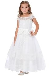 Sukienka komunijna biała dziewczęca