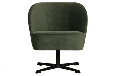 Be pure obrotowy fotel vogue aksamit onyksowy 800217-501