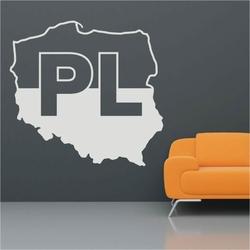 mapa Polski 3 szablon malarski