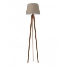 Lampa podłogowa curacao abażur beżowy stelaż mahoniowy - beżowy