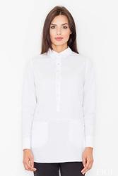 Biała koszula z kieszeniami