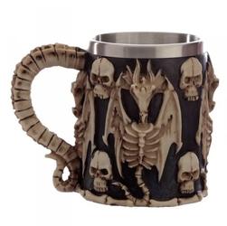 Szkielet smoka i czaszki - kufel dekracyjny