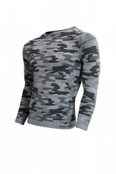 Koszulka męska thermo active military style długi rękaw popiel sesto senso