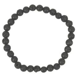 Bransoletka z kamieni - czarna lawa