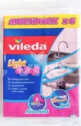 Vileda, lightsoft, uniwersalna ściereczka, 6 sztuk