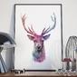 Plakat w ramie - art deer , wymiary - 60cm x 90cm, ramka - biała