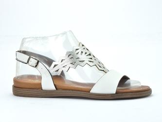 Sandały sergio leone sk035  biały