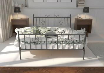 Łóżko metalowe ze stelażem andrea