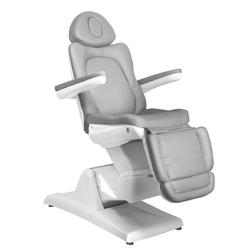 Fotel kosmetyczny elektr. azzurro 870 3 siln. szary