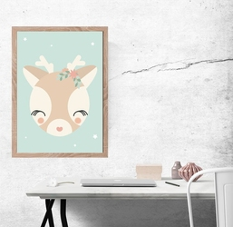 Sarenka miętowe tło - plakat wymiar do wyboru: 20x30 cm