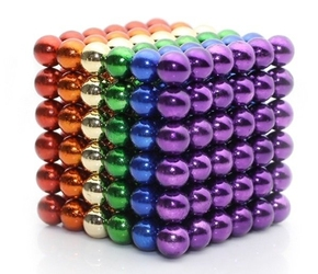 Neocube kulki magnetyczne 216 sztuk 3mm tęczowe kolory