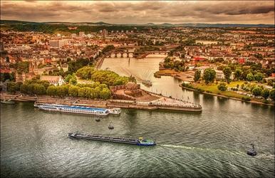 Koblenz – plakat wymiar do wyboru: 59,4x42 cm