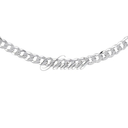 Łańcuszek - pancerka diamentowana płaska pr. 925 ø 0120 rodowany - 5,1 mm