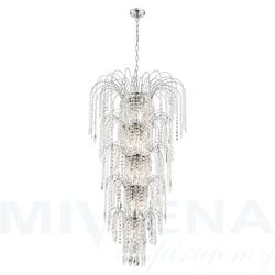 Waterfall lampa wisząca 13 chrom kryształ