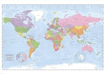 Polityczna mapa świata - plakat