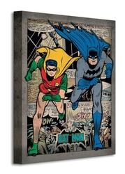 Batman comic montage - obraz na płótnie