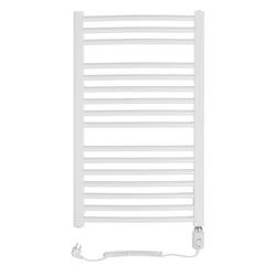 Grzejnik łazienkowy wetherby - elektryczny, wykończenie zaokrąglone, 500x800, białyral - biały