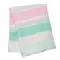 Kocyk - otulacz bambusowy lulujo 120x120 pink spotted stripe