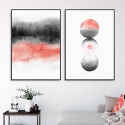 Zestaw dwóch plakatów - living coral design , kolor ramki - biały, wymiary - 70cm x 100cm 2 sztuki