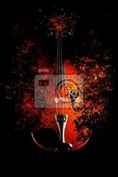 Obraz skrzypce eksploduje - efekt dyspersji -