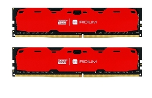 Goodram ddr4 iridium 8gb240024gb 15-15-15 5128 czerwona