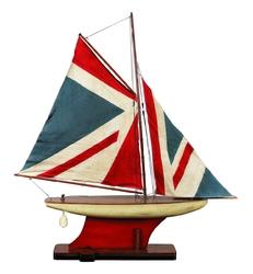 Authentic models model statku  union jack pond yacht - 87,5cm as051