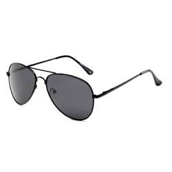 Czarne męskie okulary aviator polaryzacja drm-38c1