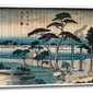 Picture of light rain on the embankment of the sumida river, hiroshige  - obraz na płótnie