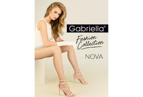Nova 419 xl plus size beżowe gabriella rajstopy w kropeczki