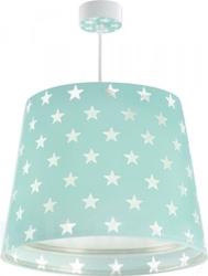 Lampa sufitowa zwis zielona w gwiazdki