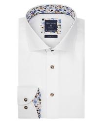 Biała koszula profuomo z wstawkami slim fit 37
